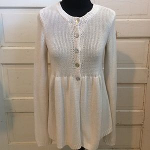 Free People Babydoll Buttoned Cardigan